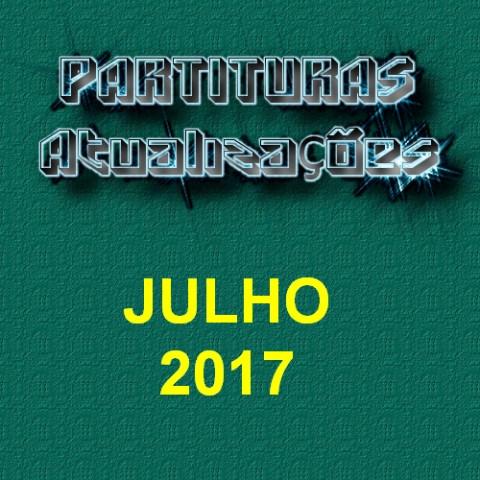 Partituras Atualizações - Julho 2017