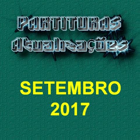 Partituras Atualizações - Setembro 2017