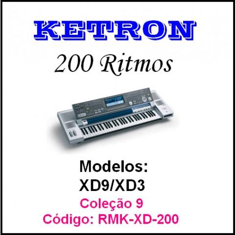 Rítmos Ketron 9 (200 rítmos)