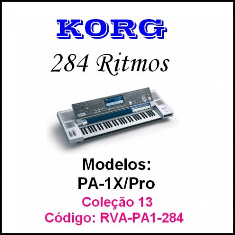 Rítmos Korg 13 (284 ritmos)