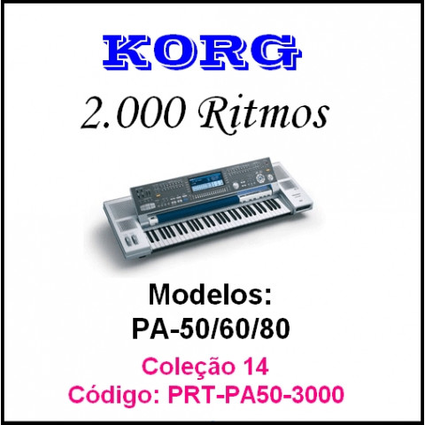 Rítmos Korg 14 (2.000 ritmos)