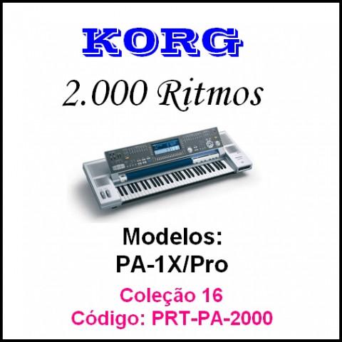 Rítmos Korg 16 (2.000 ritmos)