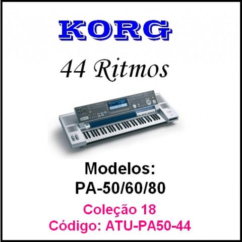 Rítmos Korg 18 (44 rítmos) Atuais e outros