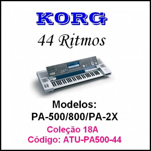 Rítmos Korg 18A (44 rítmos) Atuais e outros