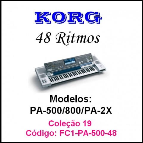 Rítmos Korg 19 Forro 1 (48 ritmos)