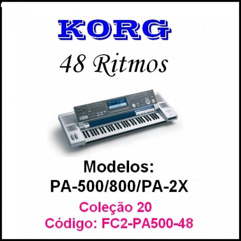 Rítmos Korg 20 Forro 2 (48 ritmos)