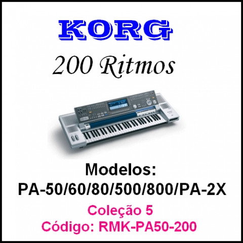 Rítmos Korg 5 (200 ritmos)