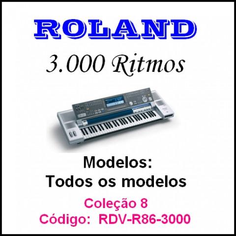 Rítmos Roland 8 (3.000 rítmos)