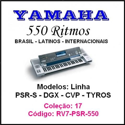 Rítmos Yamaha 17 (550 rítmos)