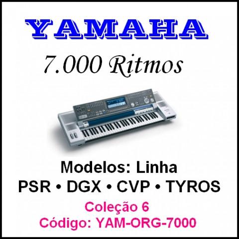 Rítmos Yamaha 6 (7.000 rítmos)