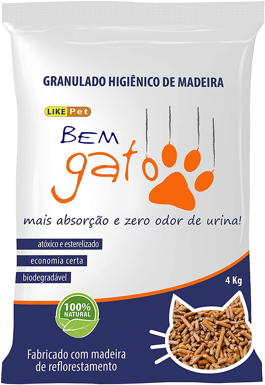 Bem Gato Granulado Higiênico de Madeira 4kg
