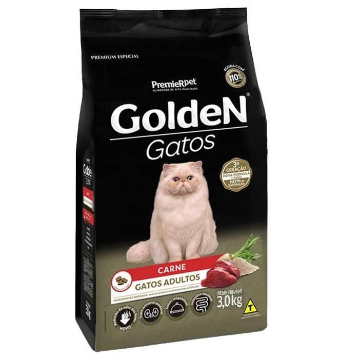 Ração Golden Gatos Carne 1kg