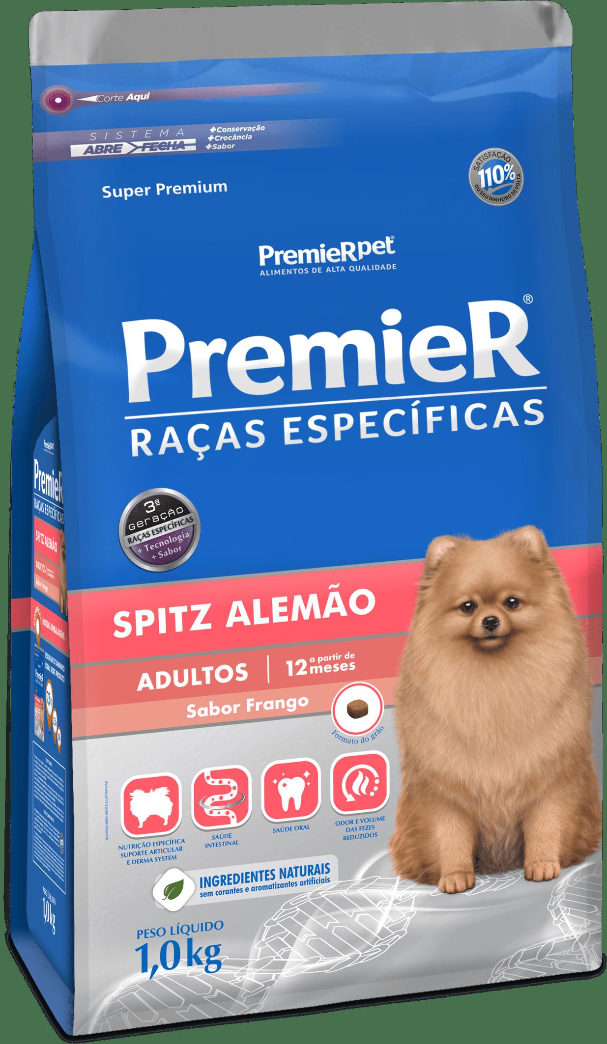 PREMIER CÃES RAÇAS ESPECÍFICAS SPITZ ALEMÃO ADULTO 1KG