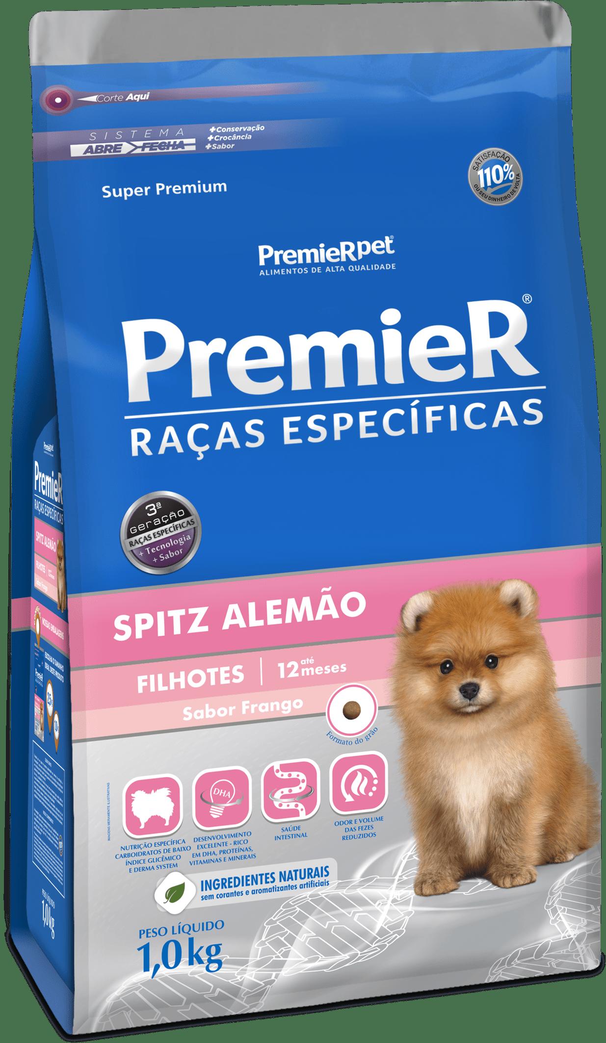 PREMIER CÃES RAÇAS ESPECÍFICAS SPITZ ALEMÃO FILHOTE 1KG