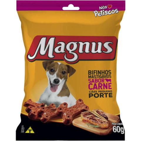 Bifinho Magnus Mastigáveis Sabor Carne para Cães Raças Pequenas 60g