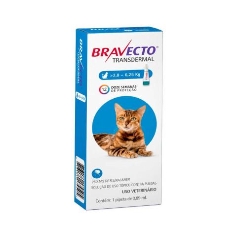 Bravecto Para Gatos Antipulgas Transdermal 2,8 a 6,25kg