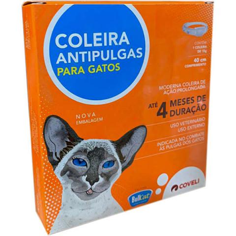 Coleira Antipulgas Coveli Bullcat para Gatos - 15 g
