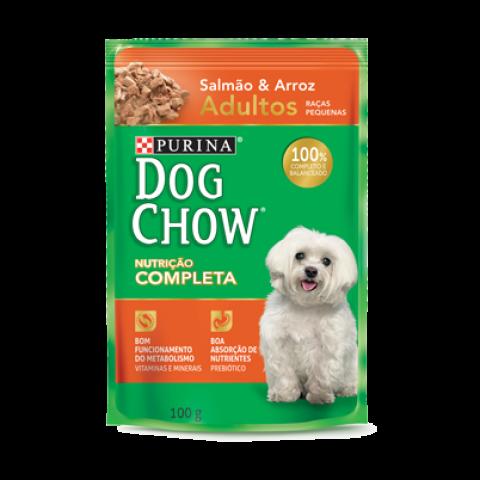 Ração Úmida Nestlé Purina Dog Chow Sachê Salmão ao Molho para Cães Adultos Raças Pequenas 100g