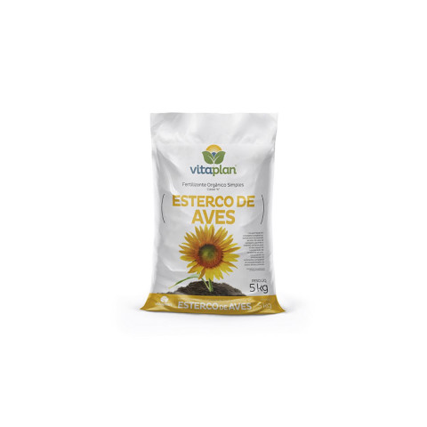 Esterco de aves - Fertilizante orgânico simples 2kg