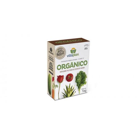 Fertilizante Orgânico de Esterco de Galinha Vitaplan 1kg