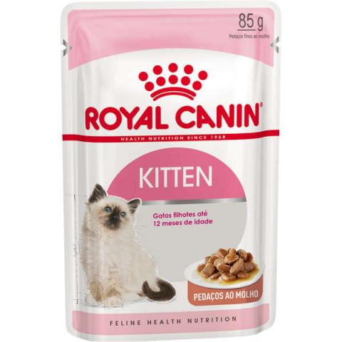 Ração Royal Canin Sachê Feline Kitten Instinctive para Gatos Filhotes com ate 12 meses 85g