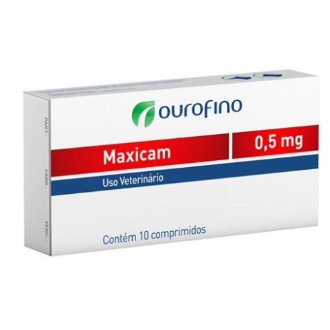 Maxicam 0,5mg cartela 10 comprimidos