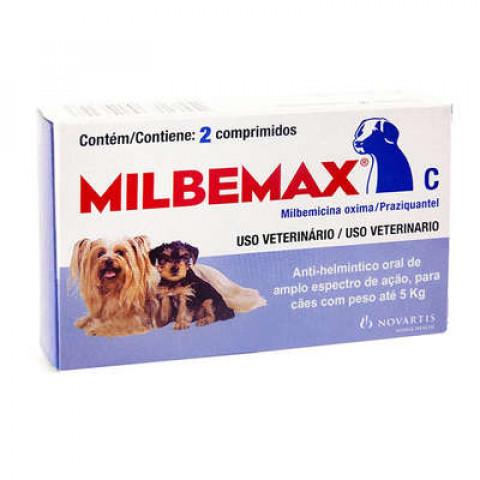 Vermífugo Milbemax Para Cães Até 5kg - 2 Comprimidos