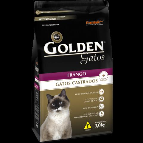 Ração Golden Gatos Castrados Frango 1 kg