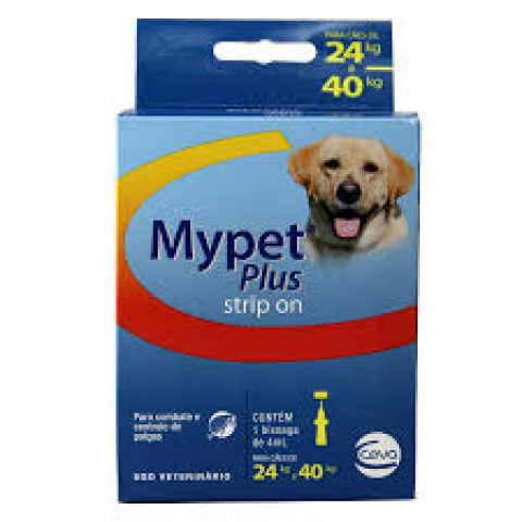 Mypet plus strip on 4 ml para cães de 24 a 40 kg