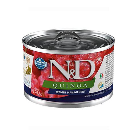 Ração Úmida N&D Quinoa Weight Management para Cães Adultos 140g
