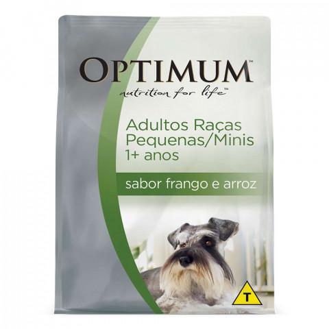 Ração Optimum Frango e Arroz para Cães Adultos Raças Pequenas e Minis 10,1kg