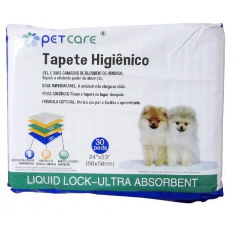 Tapete Higiênico Pet Care C/ 30 Pads ( 60x58cm )