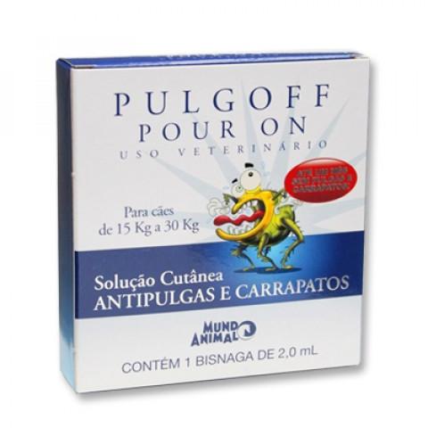 Pulgoff Pour On para cães 15kg a 30 kg