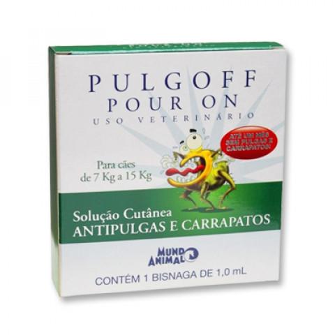Pulgoff Pour On para cães 7 kg a 15kg