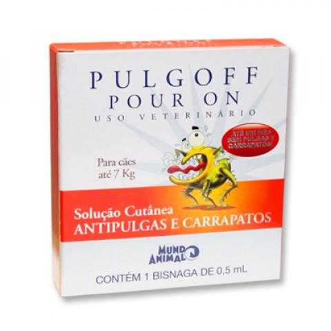Pulgoff Pour On para cães até 7 kg