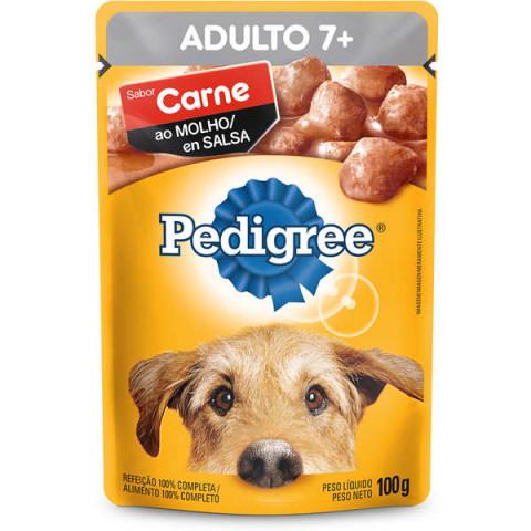 Ração Úmida Pedigree Sachê Carne ao Molho para Cães Sênior 7 + Anos 100g