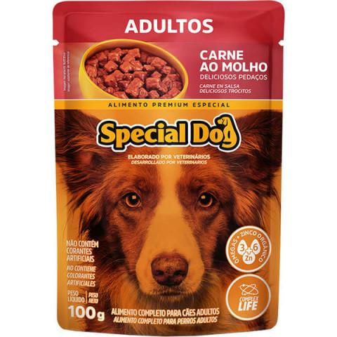 Ração Úmida Special Dog Sachê Carne para Cães Adultos 100g