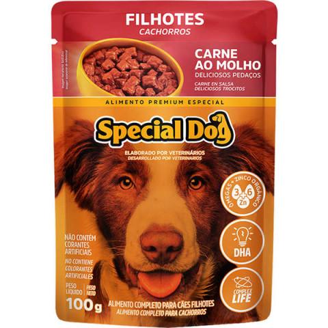Ração Úmida Special Dog Sachê Carne para Cães Filhotes 100g