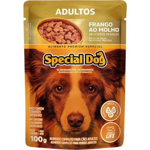 Ração Úmida Special Dog Sachê Frango para Cães Adultos 100g