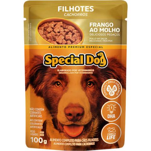 Ração Úmida Special Dog Sachê Frango para Cães Filhotes 100g