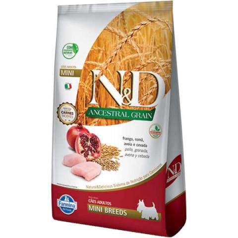 Ração Farmina N&D Ancestral Grain Frango Cães Adultos Raças Pequenas 800g