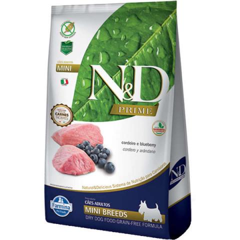 Ração Farmina N&D Prime Cordeiro e Blueberry Cães Adultos Raças Pequenas 800g