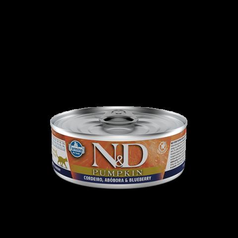 Ração Úmida N&D Pumpkin para Gatos Adultos Sabor Cordeiro 80g
