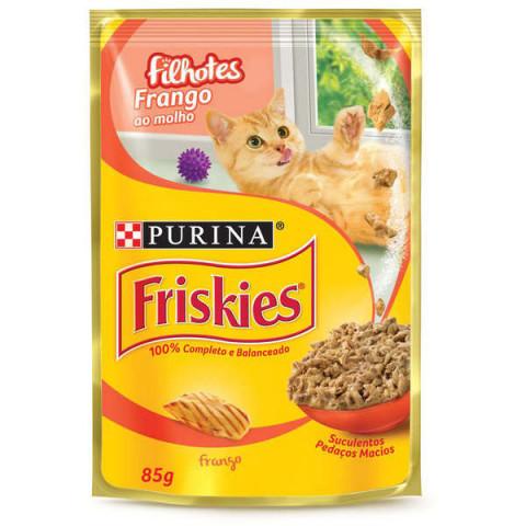 Ração Úmida Nestlé Purina Friskies Sachê Frango ao Molho para Gatos Filhotes 85g