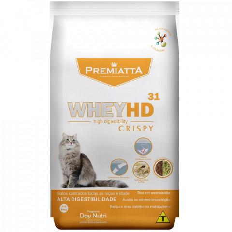 Ração Premiatta Whey HD 31 Crispy para Gatos Castrados de todas as raças e idades 3kg