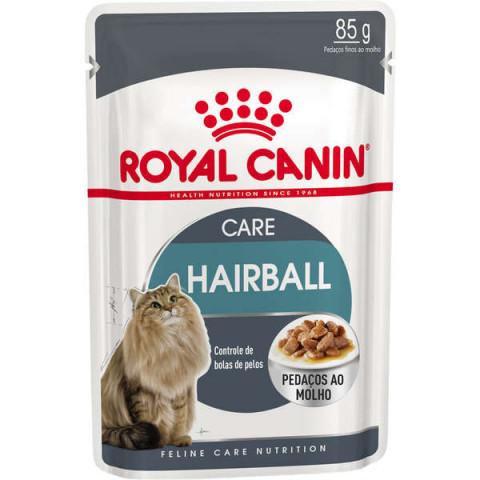 Ração Royal Canin Sachê Feline Hairball Care Eliminação de Pelos Ingeridos para Gatos 85g