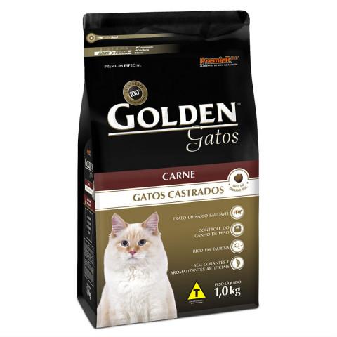 Ração Golden Gatos Castrados Carne 10,1 kg