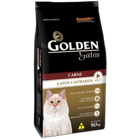 Ração Golden Gatos Castrados Carne 3 kg
