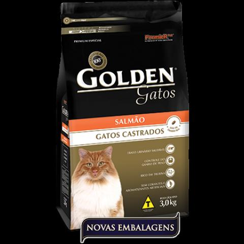 Ração Golden Gatos Castrados Salmão 1 kg