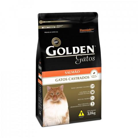 Ração Golden Gatos Castrados Salmão 3 kg